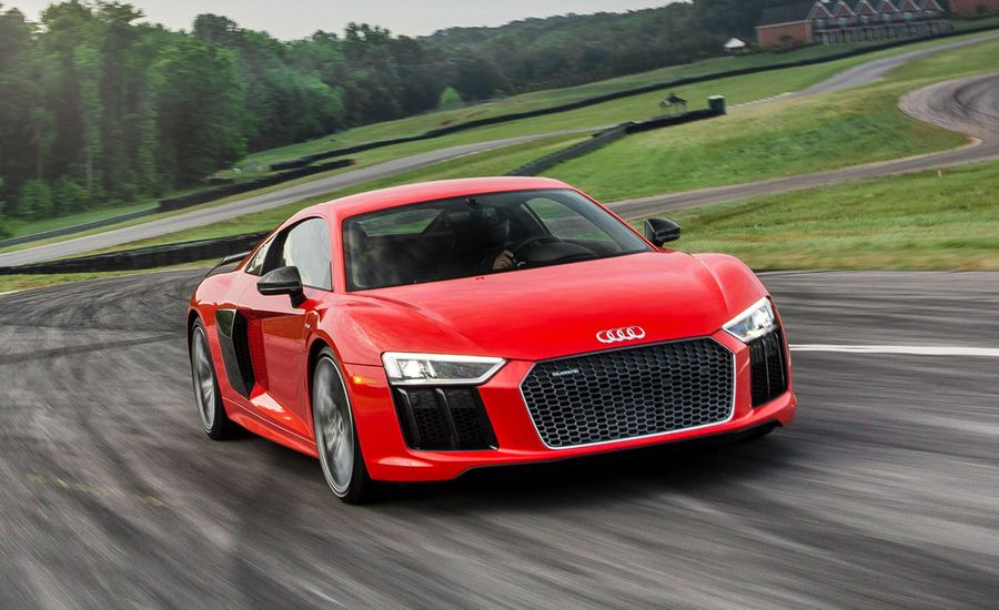 audi r8 v10 plus at lightning lap 2016 feature car and driver. Black Bedroom Furniture Sets. Home Design Ideas