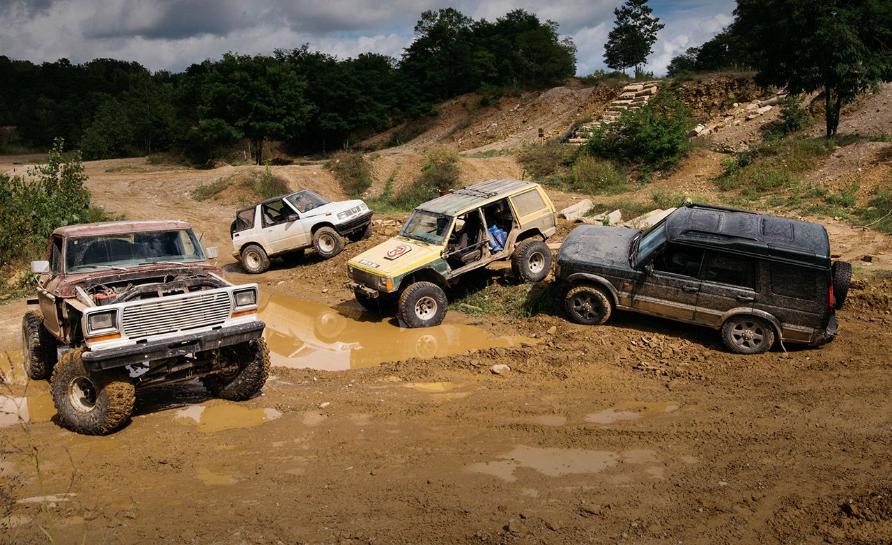 The Battle Of Off Road Beaters Ford Vs Geo Jeep And Land 1999 Cherokee 6 Inch Lift Rover Feature Car Driver