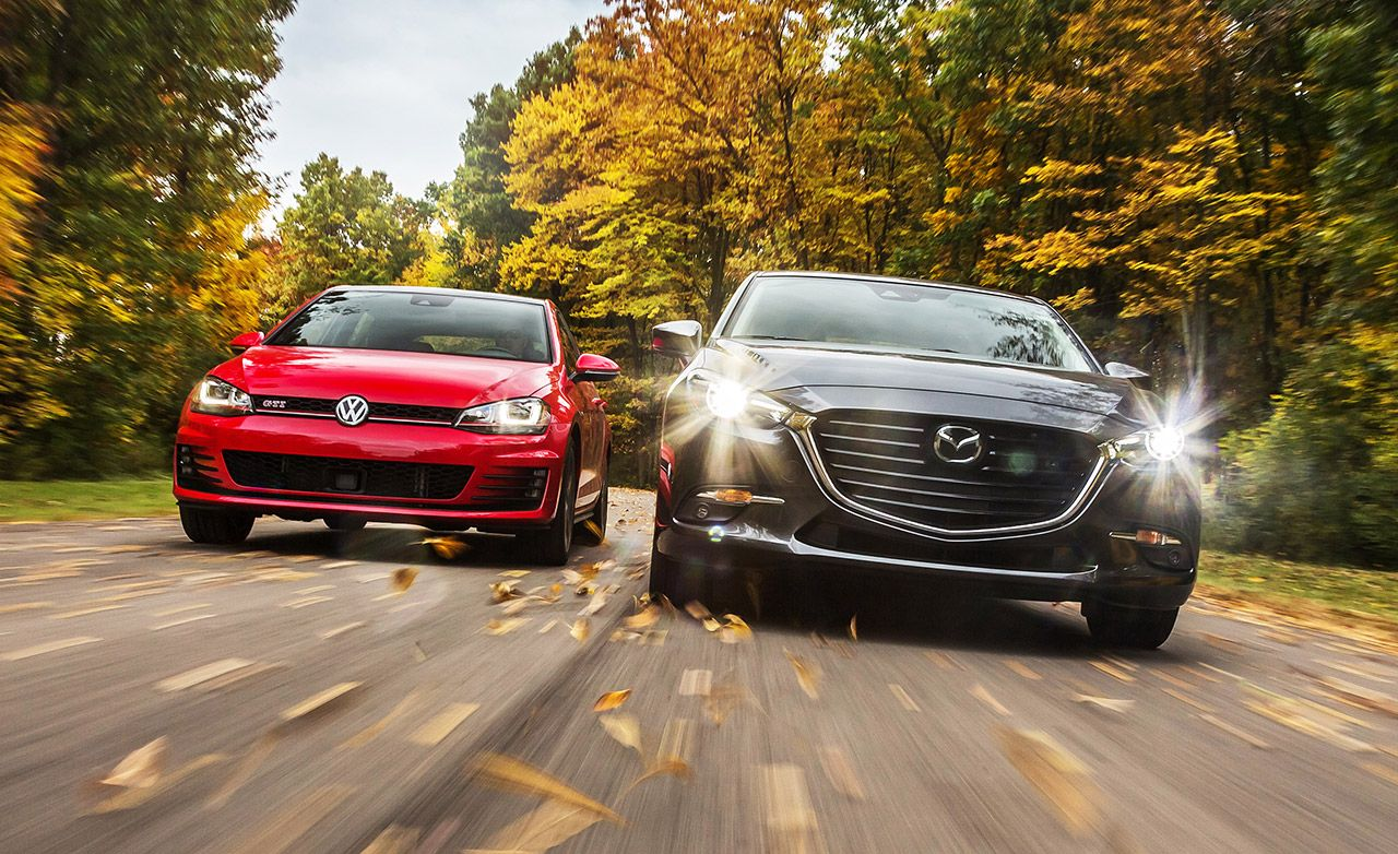 2017 10Best Cars: Mazda 3 and Volkswagen Golf / Alltrack / GTI / R