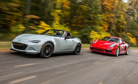 2017 10Best Cars: Mazda MX-5 Miata and Porsche 718 Boxster / Cayman