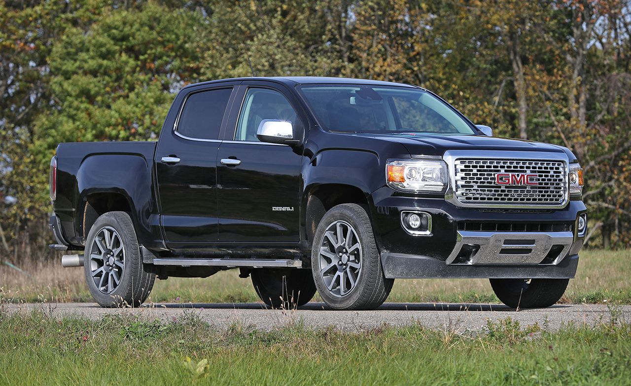 2017 gmc canyon review car and driver. Black Bedroom Furniture Sets. Home Design Ideas