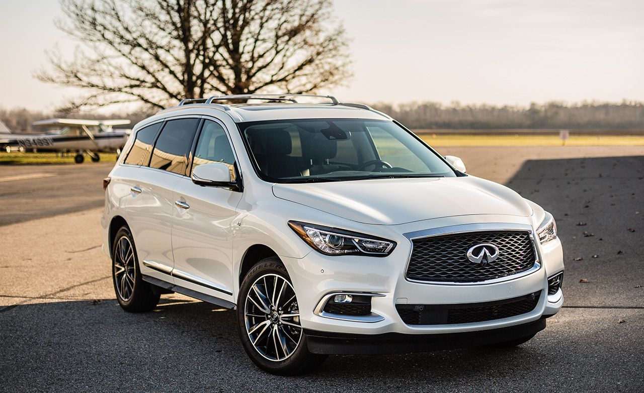 infiniti qx60 reviews infiniti qx60 price photos and specs car and driver. Black Bedroom Furniture Sets. Home Design Ideas