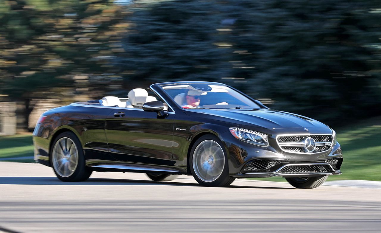 2017 Mercedes Amg S63 Cabriolet Test Review Car And Driver