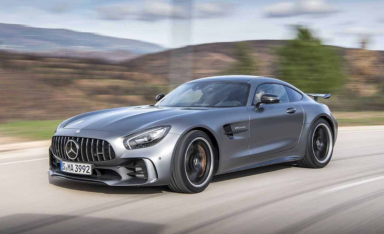 2018 mercedes amg gt r first drive review car and driver for Mercedes benz amg gt coupe price