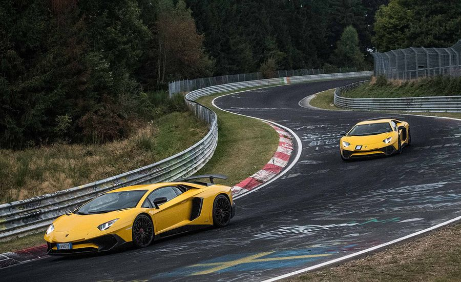 Ringing the Bull: Testing the Lamborghini Aventador SV's New Rear-Wheel Steering at the 'Ring