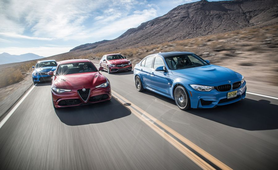 Alfa romeo giulia quadrifoglio vs bmw m3 cadillac ats v for Alfa romeo vs mercedes benz