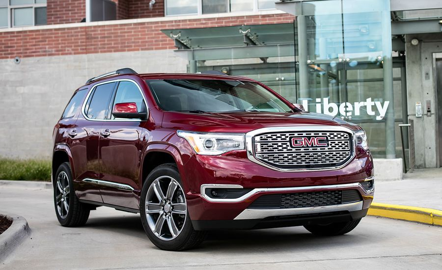 2017 gmc acadia denali awd test review car and driver. Black Bedroom Furniture Sets. Home Design Ideas