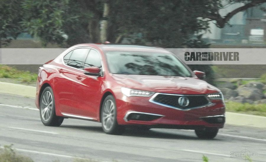 2018 Acura TLX Spied: Goodbye Beak, Hello Diamond Pentagon