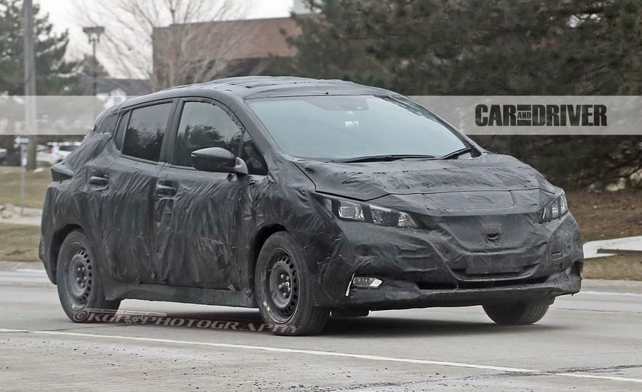 2018 Nissan Leaf Spied: Will Offer Longer Range, Less Weird Styling