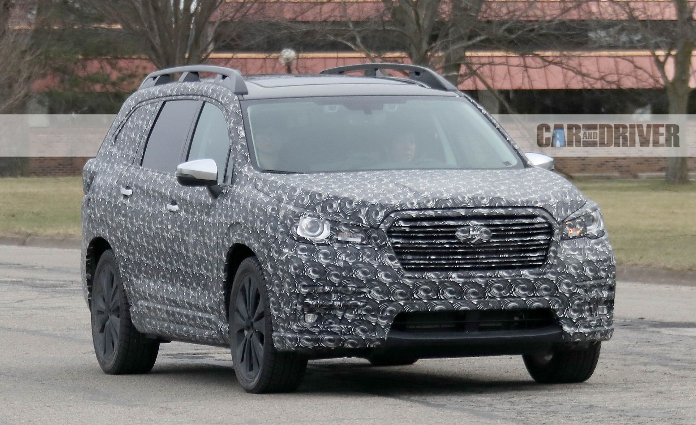 2018 Subaru Ascent Spied: The Three-Row Subie Comes into Sharper Focus