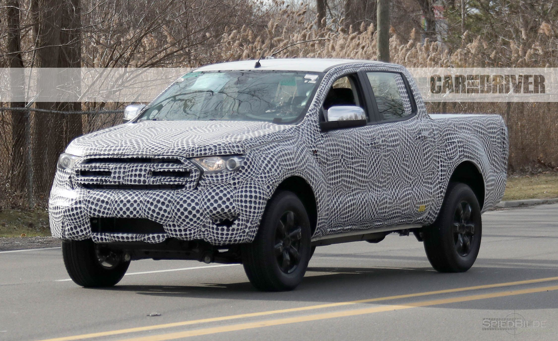 2019 ford ranger spy photos news car and driver. Black Bedroom Furniture Sets. Home Design Ideas