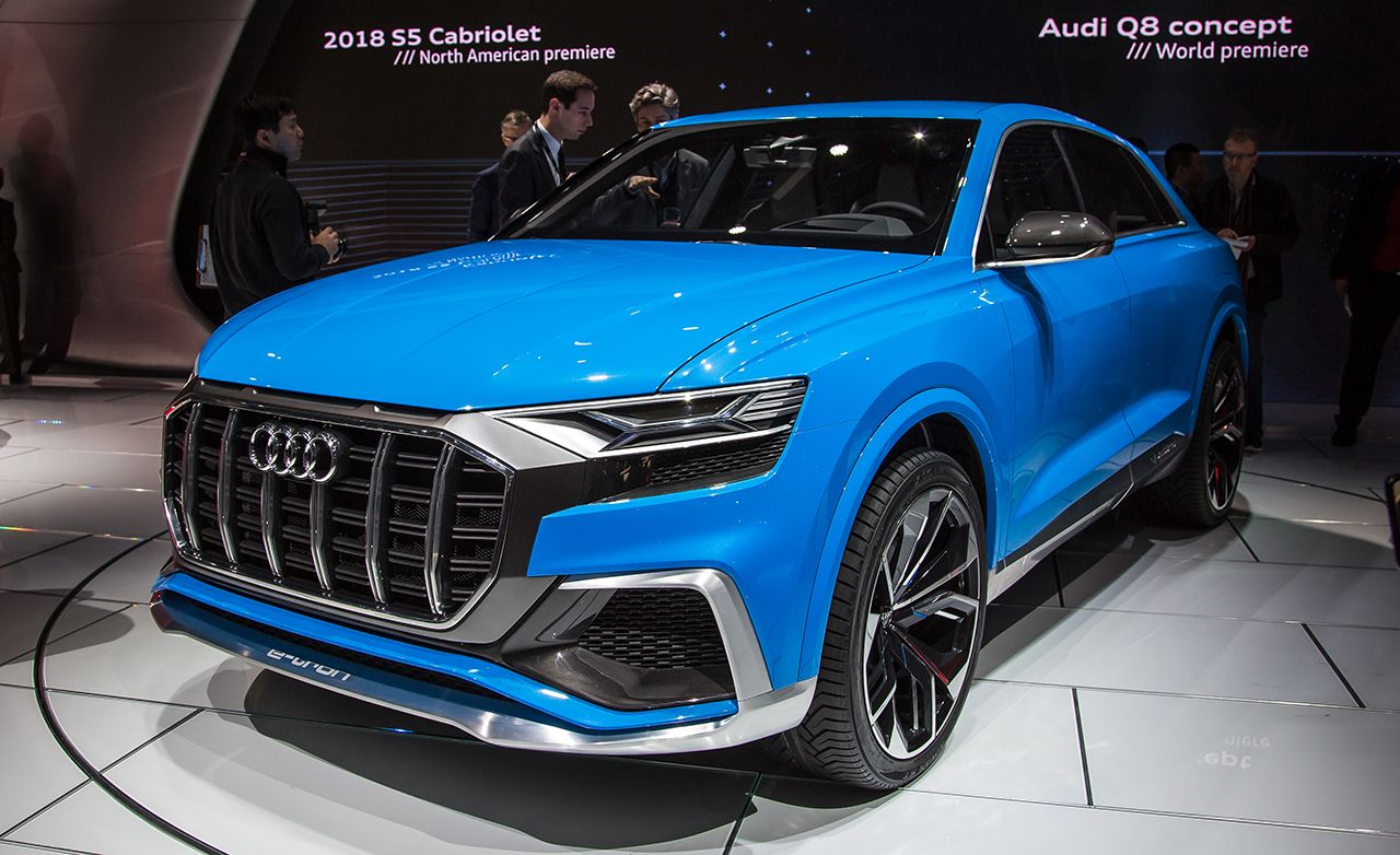 audi q8 concept photos and info news car and driver. Black Bedroom Furniture Sets. Home Design Ideas