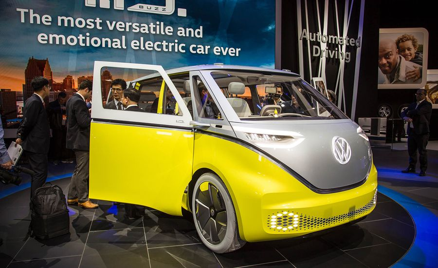 Volkswagen Id Buzz Ev Concept Photos And Info News Car And Driver