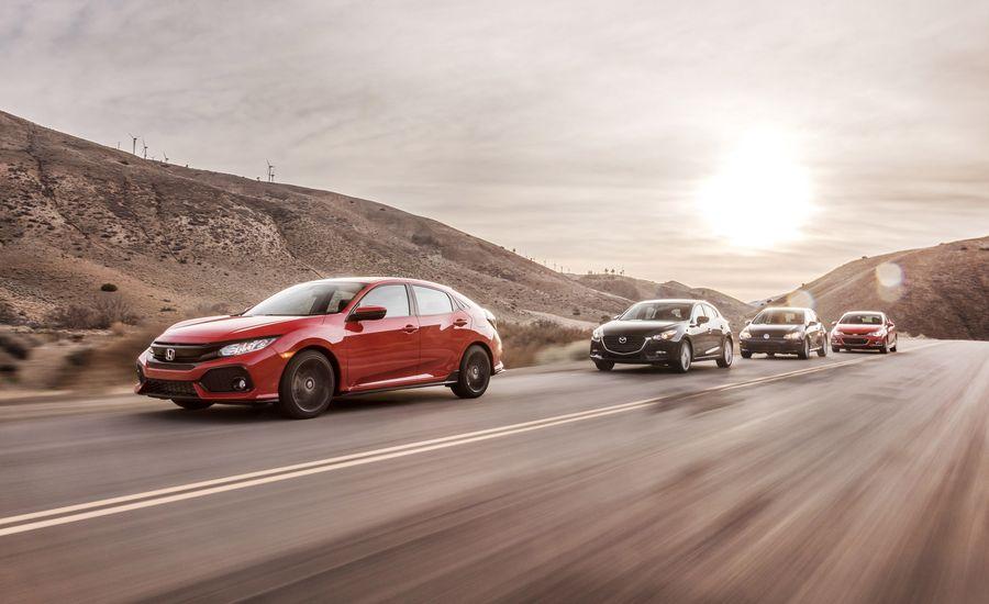 2017 Chevrolet Cruze LT RS vs. 2017 Honda Civic Sport, 2017 Mazda 3 Touring 2.5, 2017 Volkswagen Golf Wolfsburg Edition