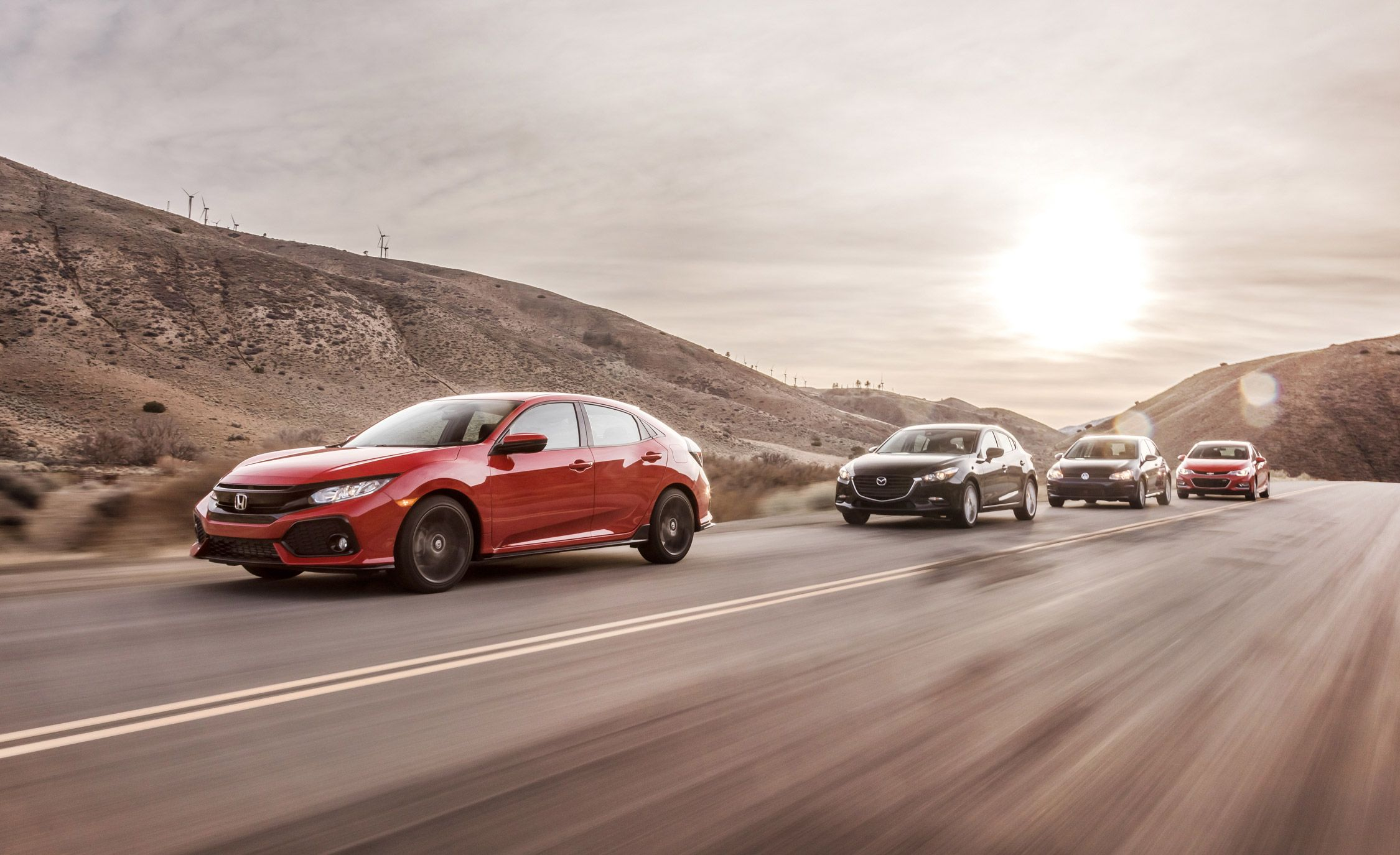 2017 Chevrolet Cruze LT RS Vs. 2017 Honda Civic Sport, 2017 Mazda 3 Touring