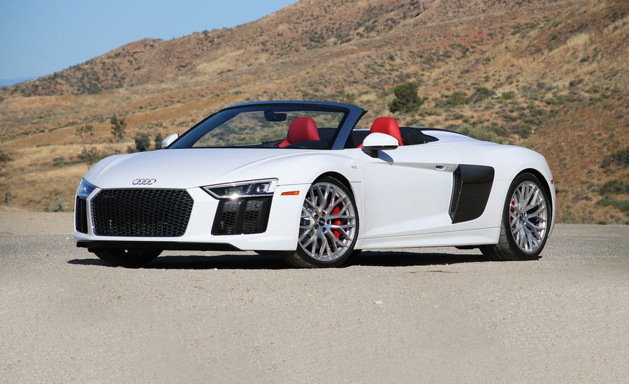 Audi R Spyder Instrumented Test Review Car And Driver - Audi r8 v10 spyder