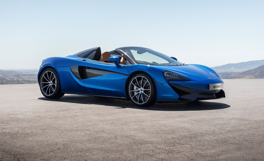 2018 mclaren 570s spider photos and info news car and driver. Black Bedroom Furniture Sets. Home Design Ideas