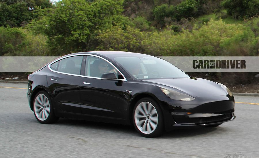 Spied: 2017 Tesla Model 3 Electric Vehicle | News | Car and Driver