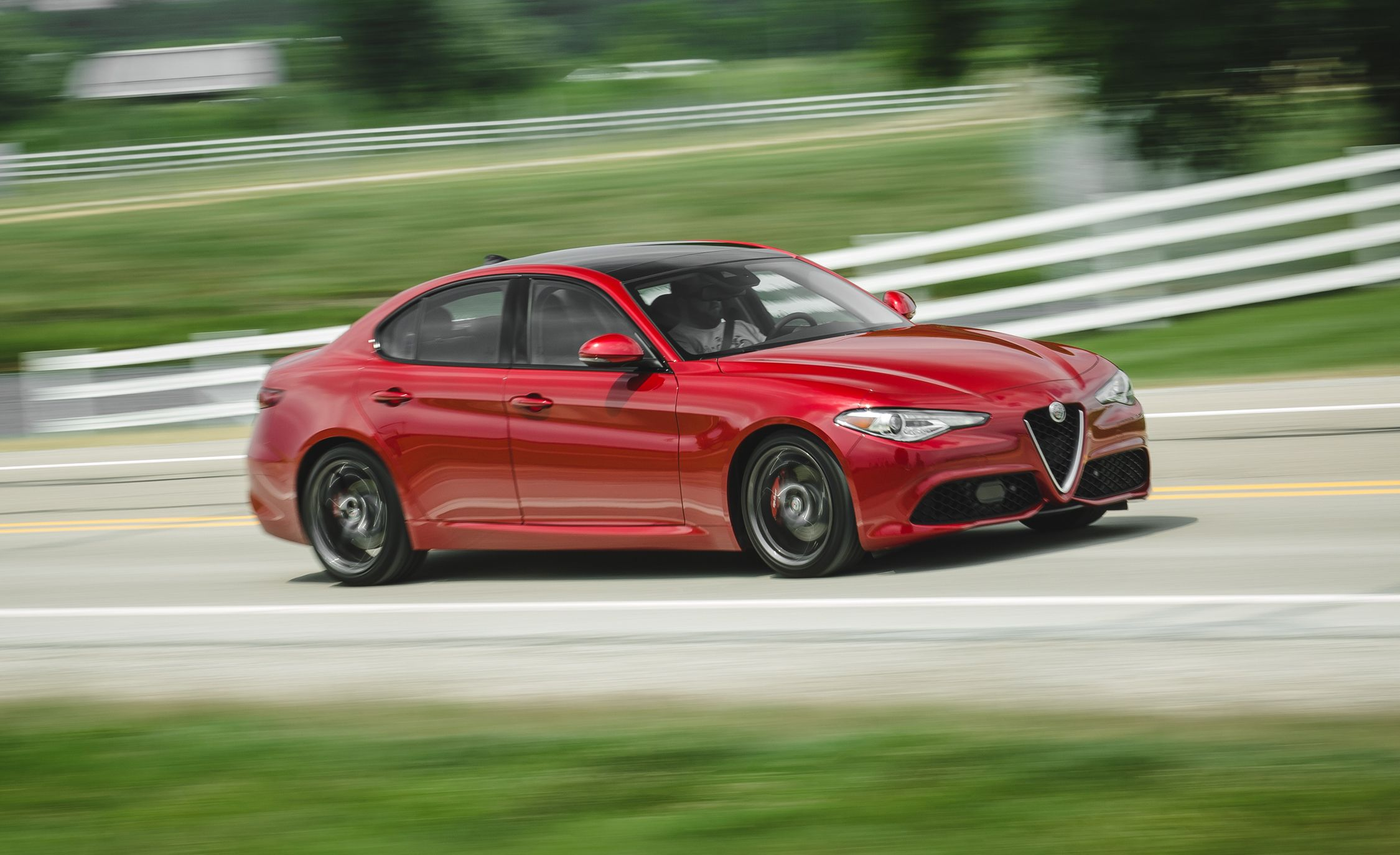 2017 Alfa Romeo Giulia 20t Rwd Test Review Car And Driver Rear End