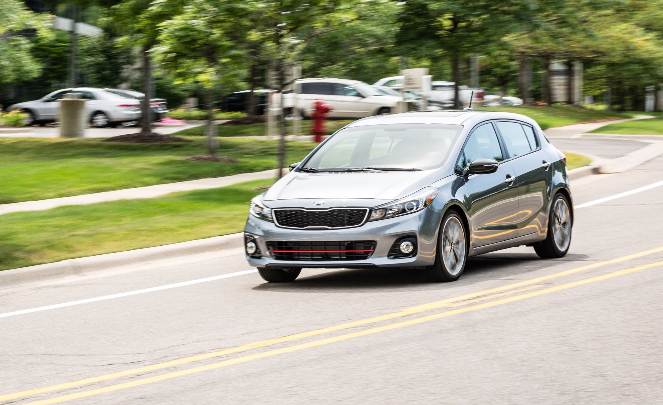 2017 kia forte5 sx turbo manual test review car and driver. Black Bedroom Furniture Sets. Home Design Ideas
