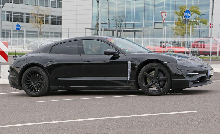 2020 Porsche Mission E Electric Sedan Spied Testing Alongside Teslas