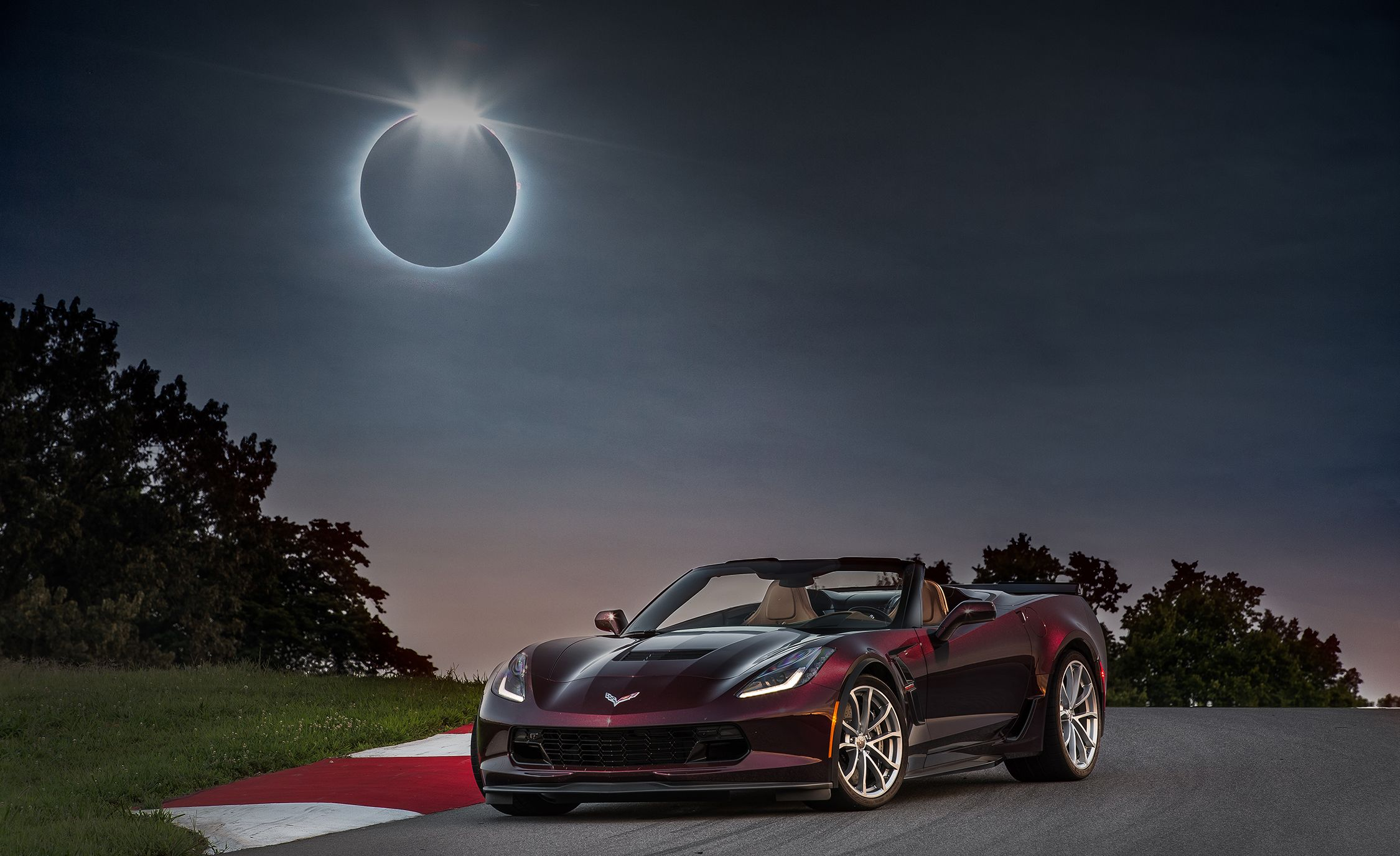 Driving into Darkness: Experiencing the Great American Eclipse in the Great American Sports Car