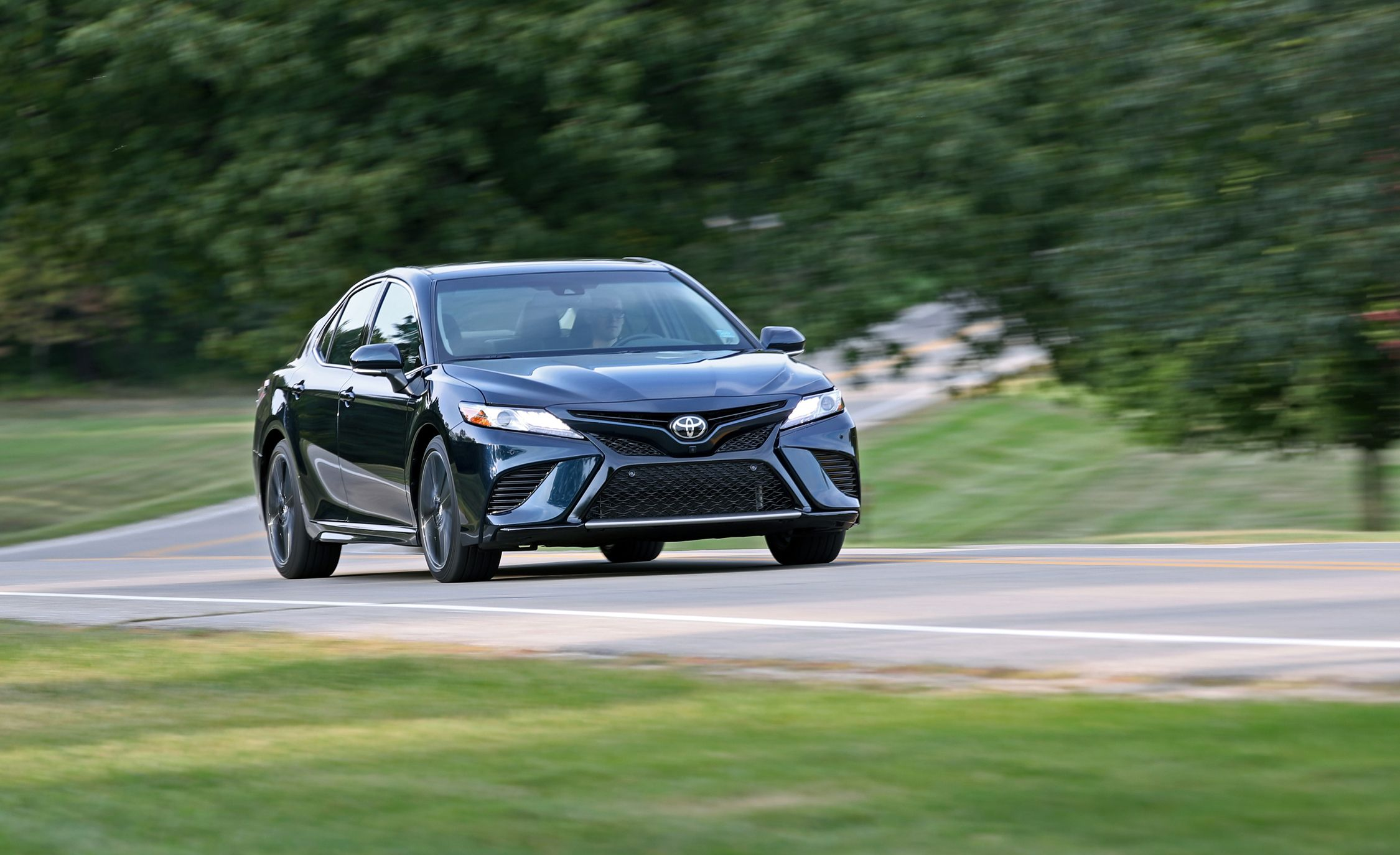 2018 Toyota Camry Xse V 6 Test Review Car And Driver