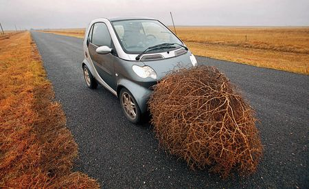 A History of Bad Ideas, Featuring a Smart Fortwo and a Tumbleweed
