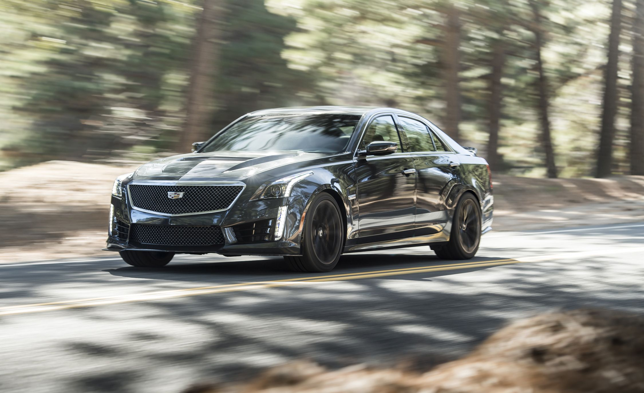 2018 Cadillac Cts V Quick Test Review Car And Driver