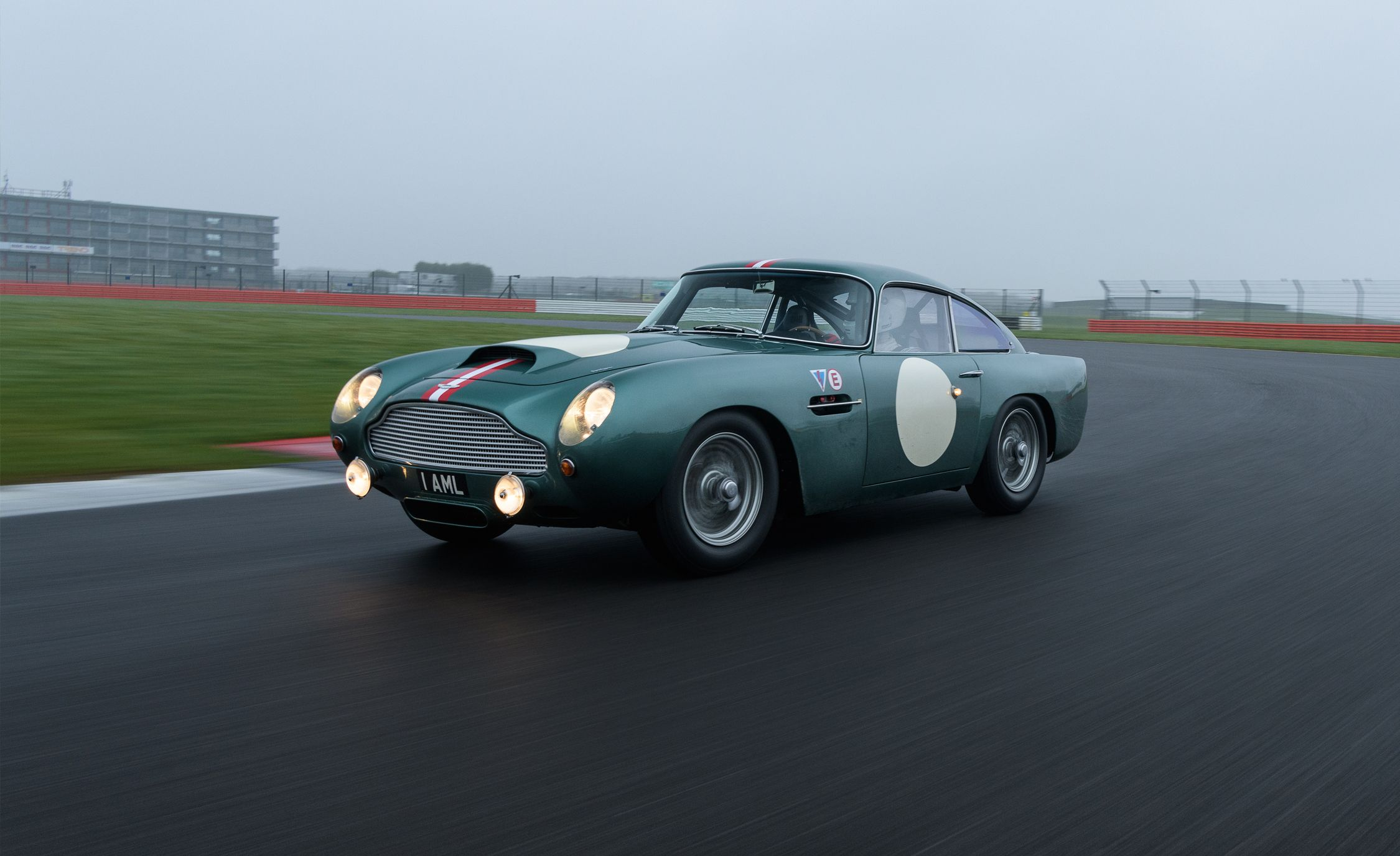 aston martin db4 gt continuation driven: a brand-new old car