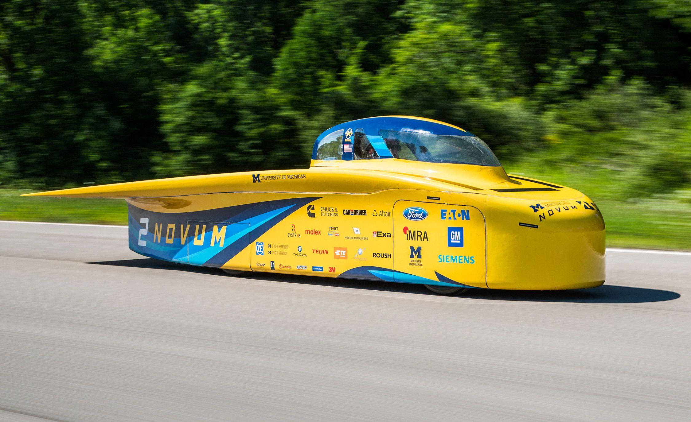 We Test The University Of Michigan S Quot Novum Quot Solar Car