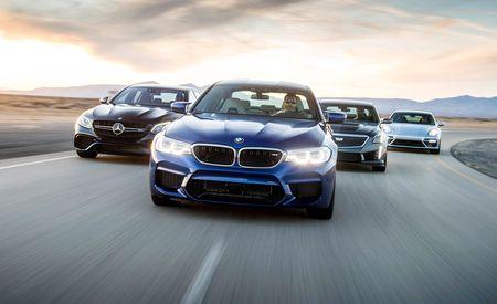 BMW M5 vs. Cadillac CTS-V, Mercedes-AMG E63 S, Porsche Panamera Turbo