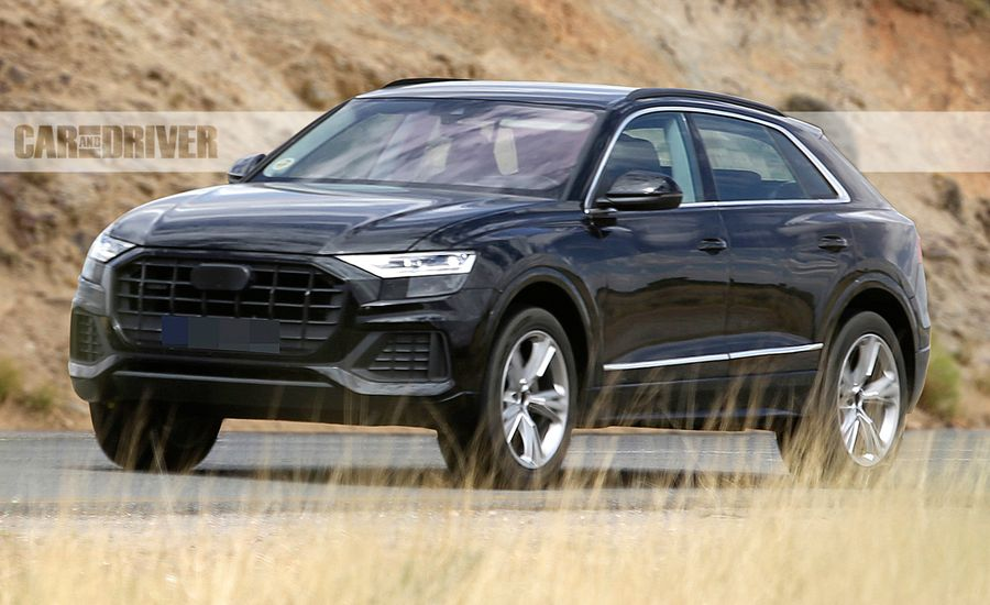2019 audi q8 spied basically undisguised news car and driver. Black Bedroom Furniture Sets. Home Design Ideas