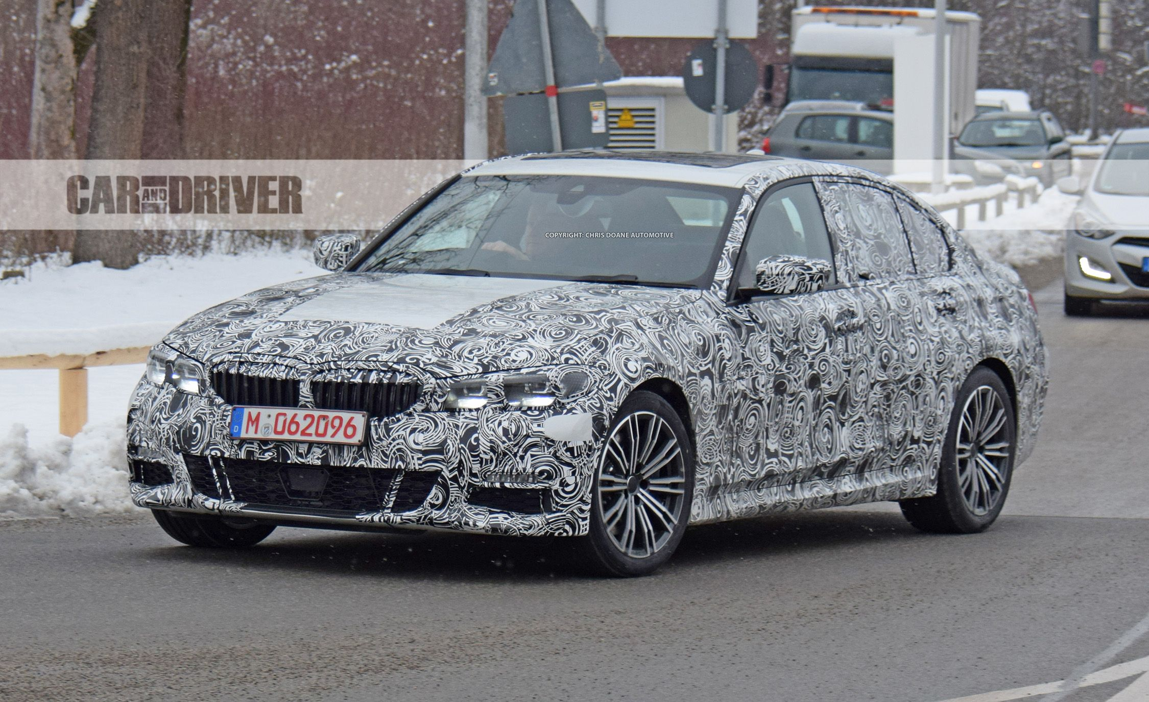 2019 bmw 3 series sedan spied this time with a look inside news car and driver. Black Bedroom Furniture Sets. Home Design Ideas