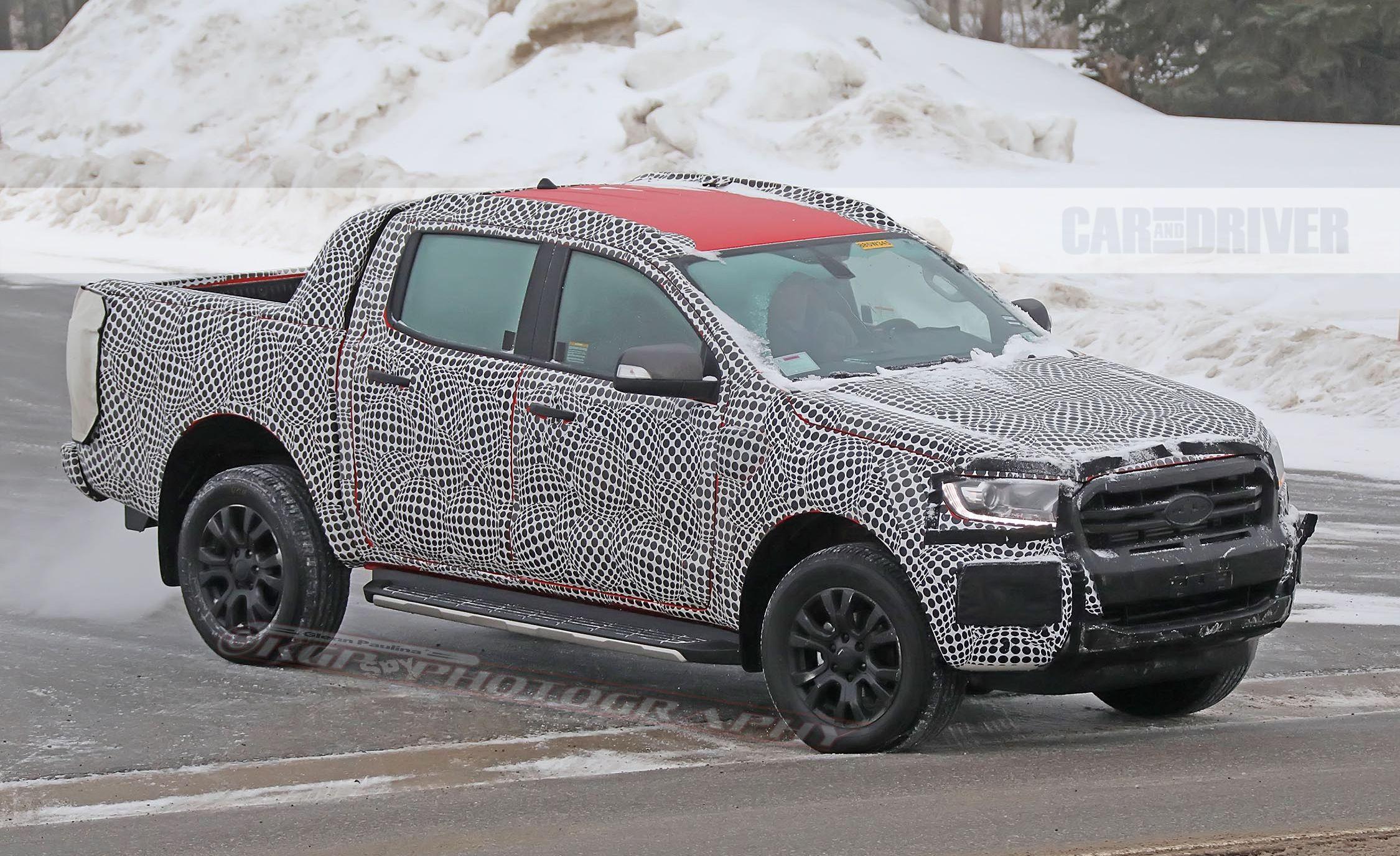 2019 Ford Ranger Wildtrak Spied in Northern Michigan