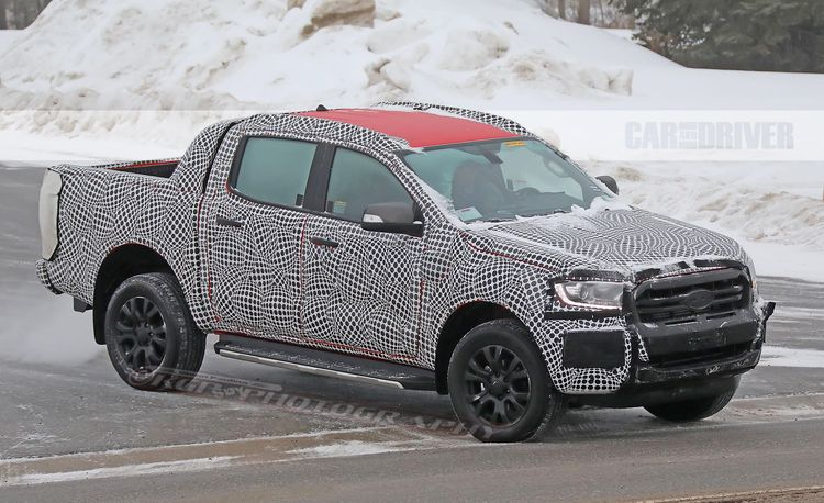 2019 Ford Ranger Wildtrak Spied in Northern Michigan