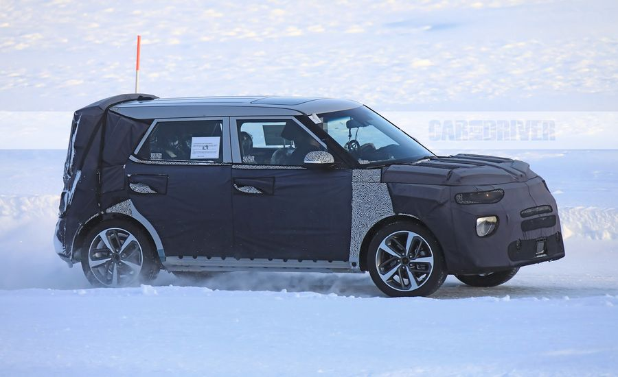 2019 kia soul spied may get awd news car and driver. Black Bedroom Furniture Sets. Home Design Ideas