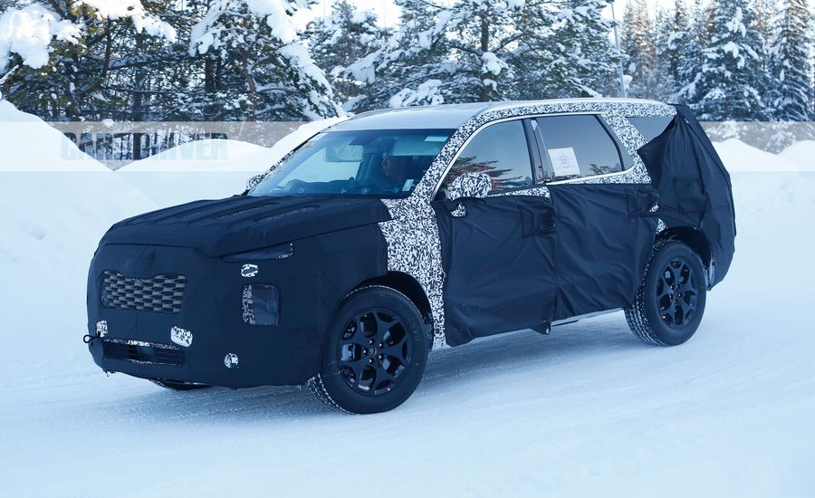 All-New Three-Row Hyundai Spied, Part of SUV Tsunami