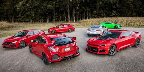 The Honda Civic And Chevrolet Camaro Lead Separate But Parallel