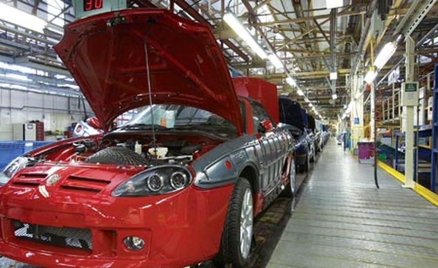 MG TF on the Longbridge assembly line - Slide 1
