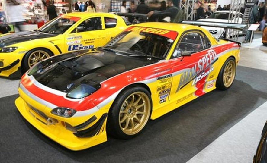 The third-generation Mazda RX-7 was sold in Japan until 2002 (Mazda gave up in the U.S. in 1995), accounting for its continuing popularity in motorsport and with tuners and enthusiasts. - Slide 1