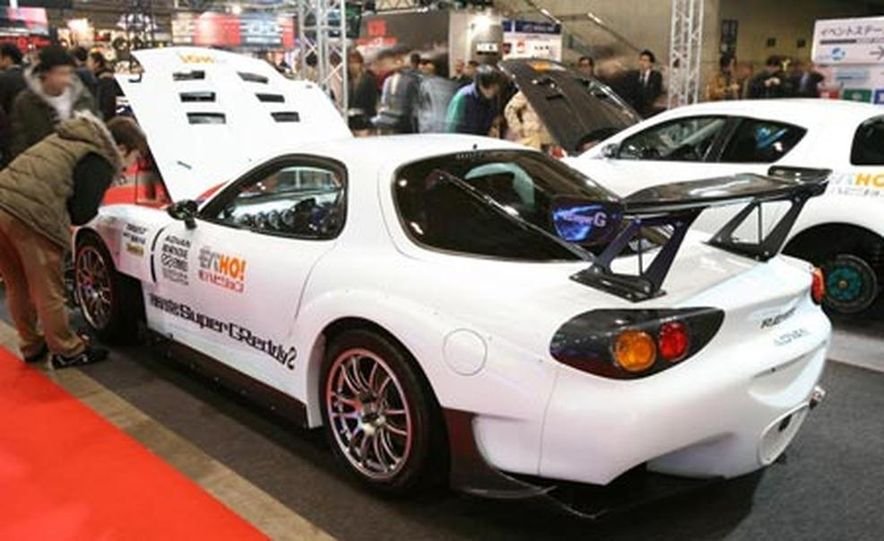 The third-generation Mazda RX-7 was sold in Japan until 2002 (Mazda gave up in the U.S. in 1995), accounting for its continuing popularity in motorsport and with tuners and enthusiasts. - Slide 9