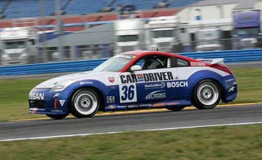The 350Z in brief glory at Daytona before its fateful motor explosion. - Slide 2