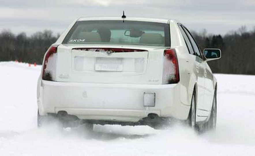 Cadillac CTS during snow testing - Slide 2
