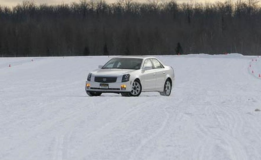 Cadillac CTS during snow testing - Slide 6