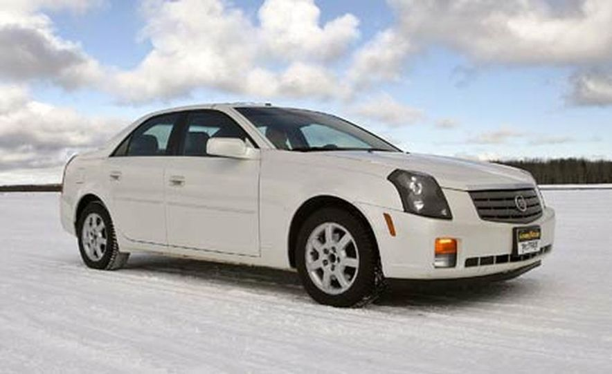 Cadillac CTS during snow testing - Slide 9