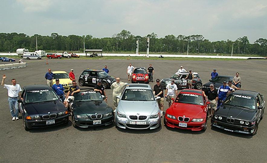 Greetings from No Problem Raceway! Having a Good Time, Wish You Were Here. Love, the BMW/Mini Cooper Lappers and Our New Friends, the Bayou Chapter of the BMW Car Club of America. - Slide 1