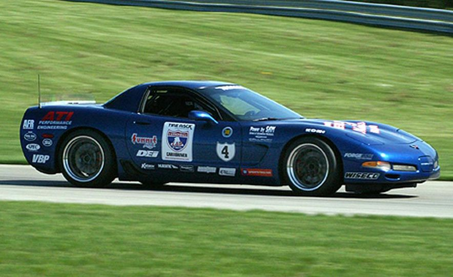 Ron Adee's Viper was first out on the wet skid pad at Tire Rack headquarters in South Bend. - Slide 6