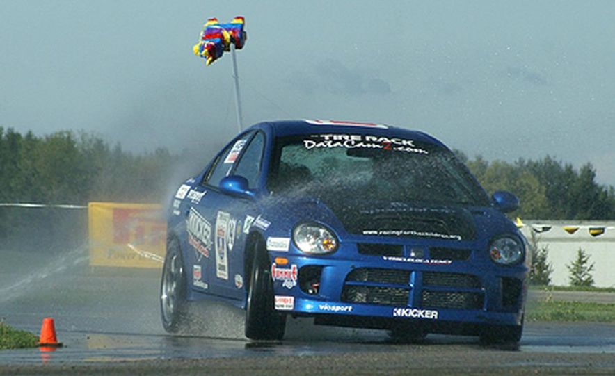 Ron Adee's Viper was first out on the wet skid pad at Tire Rack headquarters in South Bend. - Slide 4