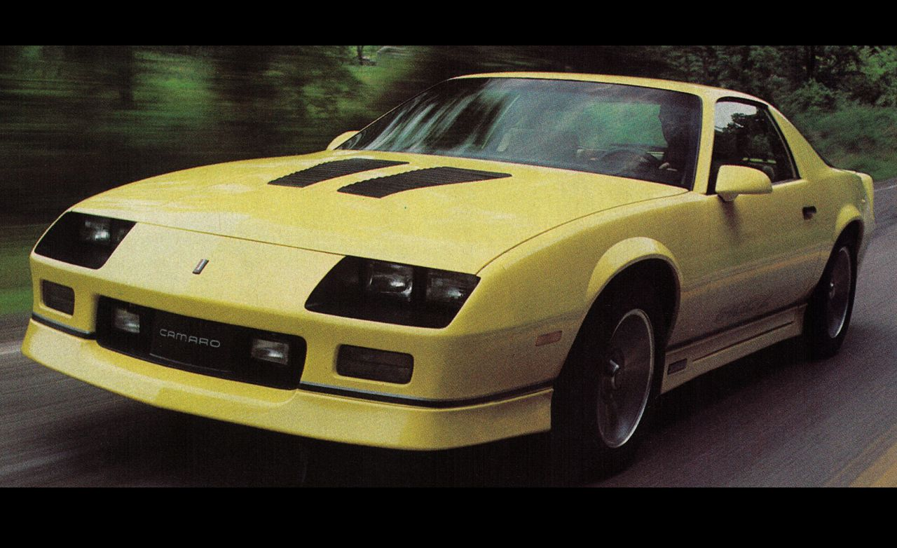 1985 chevrolet camaro iroc z 10best cars features car and driver rh caranddriver com 1994 Chevy Camaro 1992 Chevy Camaro